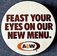Vintage A & W Root Beer Pin (Image1)