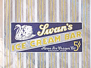 Vintage Swan Ice Cream Unused Wrapper
