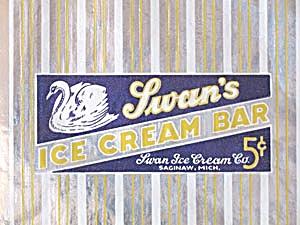 Vintage Swan Ice Cream Unused Wrapper (Image1)