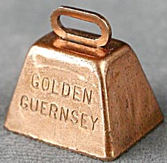 Vintage Golden Guernsey Miniature Cow Bell
