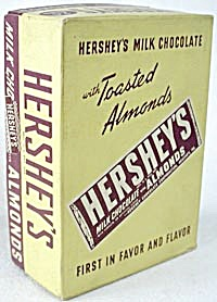 Vintage Hershey's Candy Bar Box With Almonds Pair