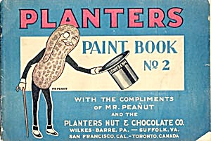 Vintage Planters Peanut Paint Book No 2