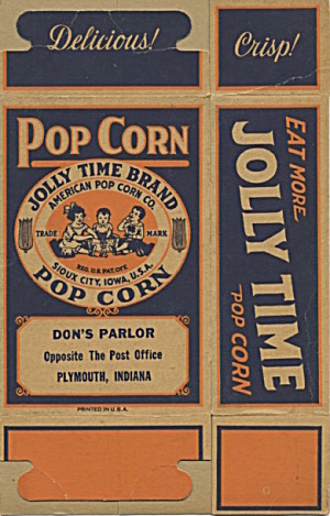 Jolly Time Pop Corn Box