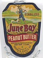 June Boy Georgia Peanut Butter Label