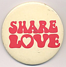 Share Love Canada Dry Ginger Ale Pinback (Image1)