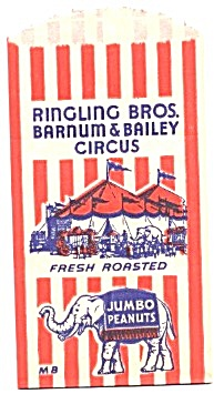 Ringling Brothers Barnum & Bailey Jumbo Peanuts Bags (Image1)