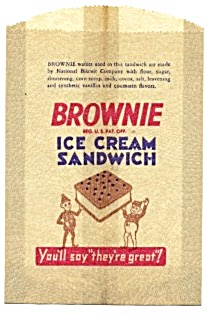 Brownie Ice Cream Sandwich Glassine Bag