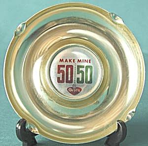 Make Mine 50/50 Metal Ashtray (Image1)
