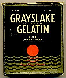 Art Deco Grayslake Gelatin Package