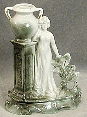 Art Nouveau Figurine of a Woman Vase (Image1)