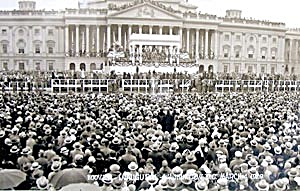 Herbert Hoover Original Panoramic Photo of Inauguration (Image1)