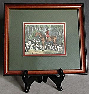 Hunt Scene Framed Picture