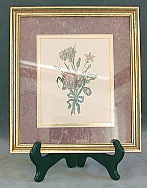 Flower Print In Gold Frame