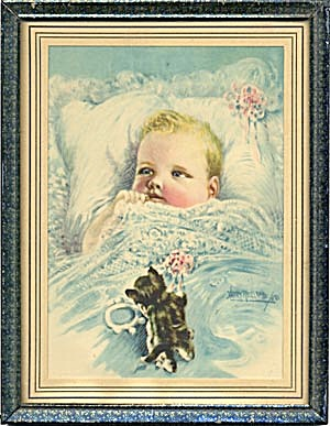 Harry Roseland Baby & Kitten Picture
