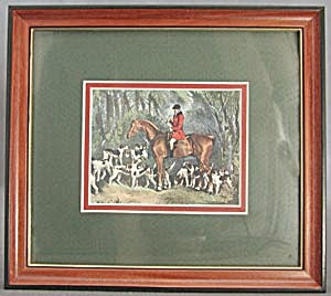 Hunt Scene Double Mat Framed Picture (Image1)