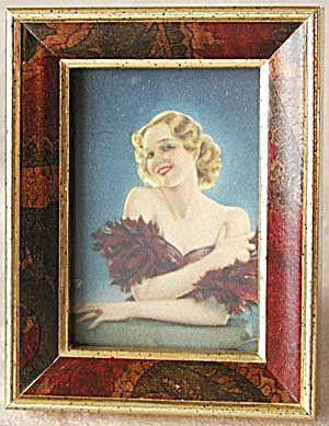 Small Easel Back Framed Print of Lady (Image1)