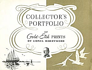 Collector's Portfolio Of 4 Gold-etch Prints