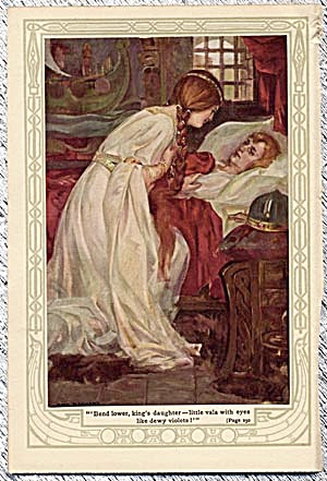 Vintage Print Of Princess Tending A Sick Person