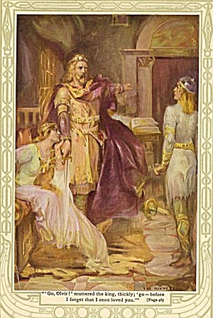 Vintage Print of Princess A Knight and A King (Image1)