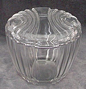 Vintage Clear Glass Covered Candy Dish