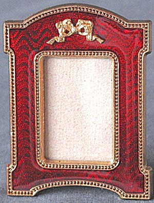 Ruby Red Enamel Frame