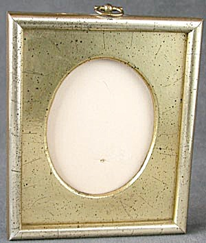Vintage Wood Brushed Gold Square Frame