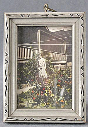 Vintage Silver Wooden Picture Frame