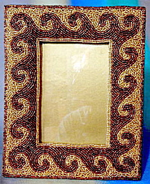 Vintage Gold & Copper Beaded Frame