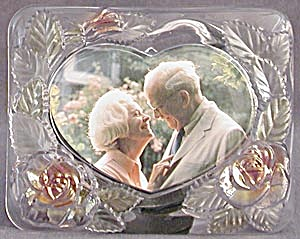 Glass Picture Frame With Roses