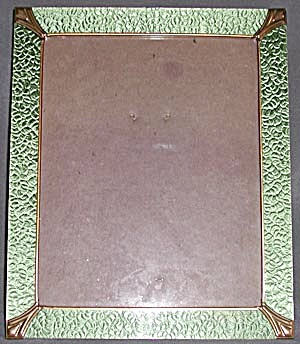 Vintage Glass And Foil Picture Frame