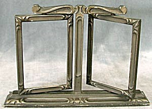 Vintage Wooden Double Swing Art Deco Picture Frame