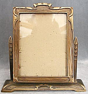 art deco wood swing picture frame image1