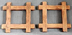 Vintage Primitive Wooden Frames (Image1)