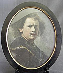 Vintage Oval Wood Frame (Image1)