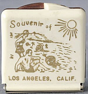 Vintage Souvenir Of Los Angeles Suede Brush