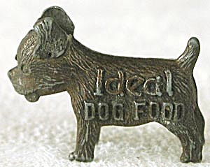 Vintage Ideal Dog Food Good Luck Metal Dog