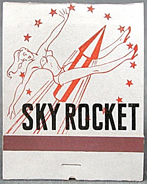 Vintage Oversized Sky Rocket Girlie Matchbook