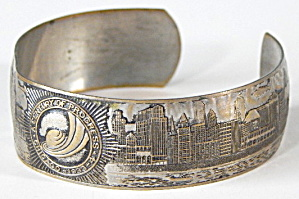 Art Deco Cuff Bracelet 1933 Chicago Worlds Fair