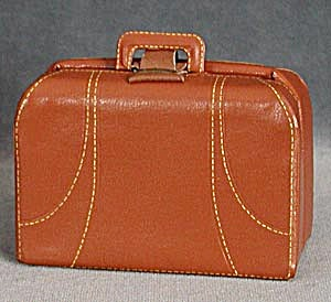 Vintage Minature Faux Leather Suitcase First Aid Kit (Image1)