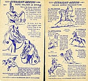 Blue Straight Arrow Radio Show Injun-Uity Cards (Image1)