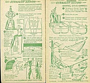 1951 Straight Arrow Radio Show Injun-Uity Cards (Image1)