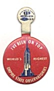 Vintage I've Been On Top Empire State Building Tab Pin