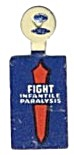 Vintage Fight Infantile Paralysis Fold Tab Pin