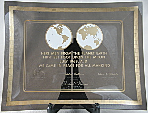 Apollo 11 Commemorative Glass Dish