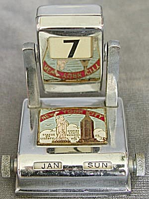 Vintage Souvenir Perpetual Calendar (Image1)