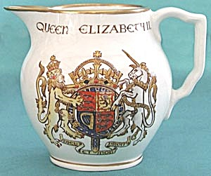 Commemorative Pitcher Coronation of Queen Elizabeth (Image1)