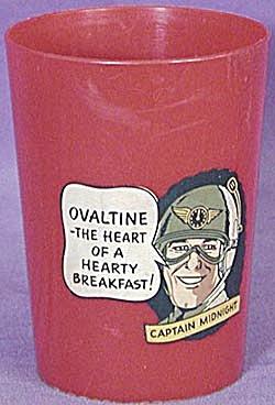 Vintage Captain Midnight Ovaltine Tumbler (Image1)