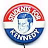 Vintage Students For Kennedy Pin (Image1)