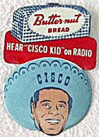 Vintage Cisco Kid Bread and TV Radio Premium Tab Pin (Image1)