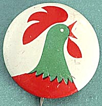 Kellogg Corn Flake Cereal Rooster Pin